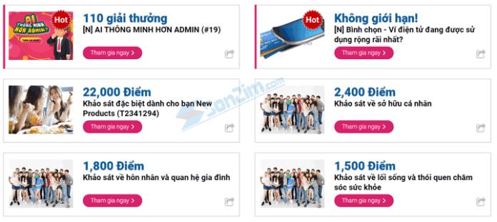 Những trang khảo sát kiếm tiền online uy tín nhất Việt Nam - Di survey