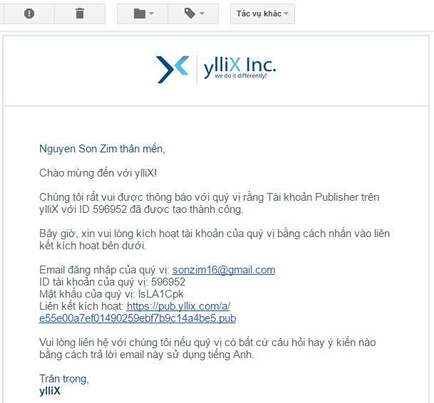 Kiếm tiền từ website hoặc blog với quảng cáo ylliX - Ảnh 4