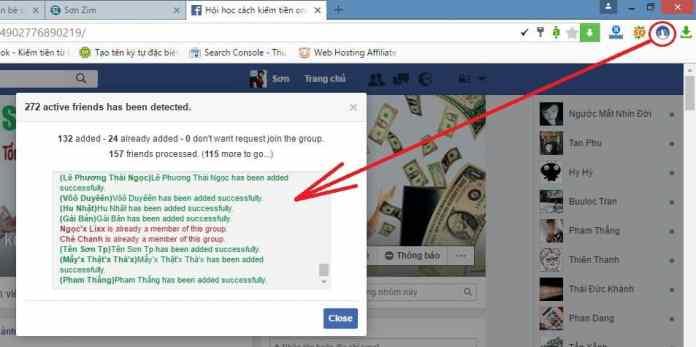Thêm tất cả bạn bè vào nhóm facebook chỉ với 1 click - 5