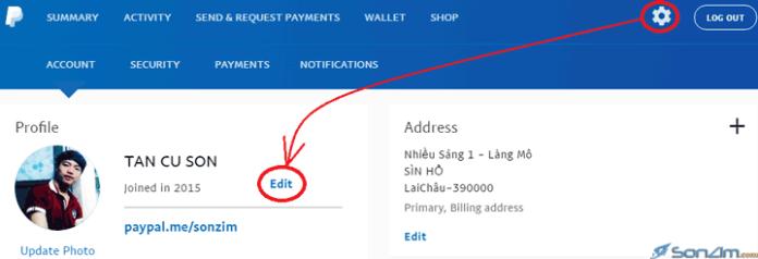 Hướng dẫn thay đổi họ tên trên PayPal - 1