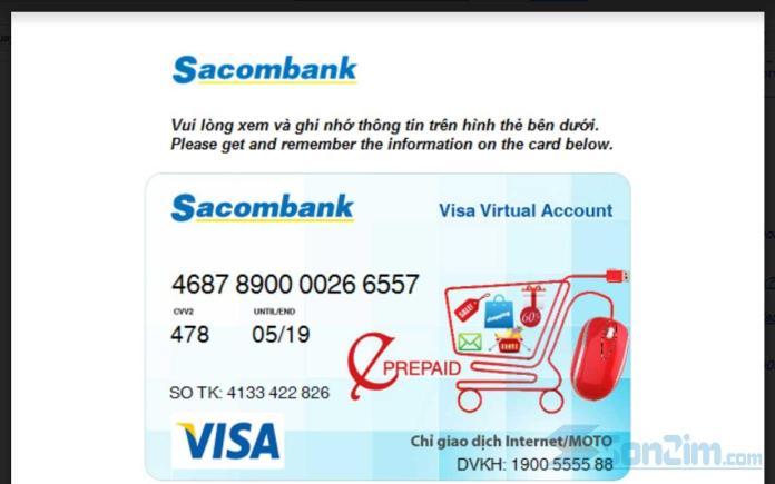 Hướng dẫn mua thẻ Visa ảo để verify PayPal - 6