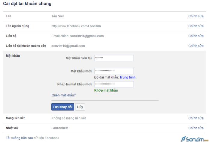 Hướng dẫn thay đổi mật khẩu Facebook - 3