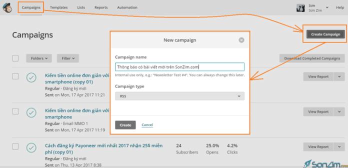 Tự động gửi email trên MailChimp - 1