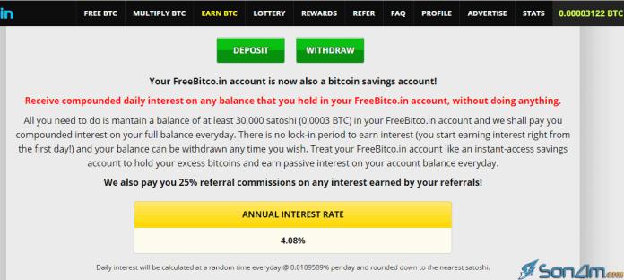 Cho vay Bitcoin nhận lãi trên FreeBitcoin
