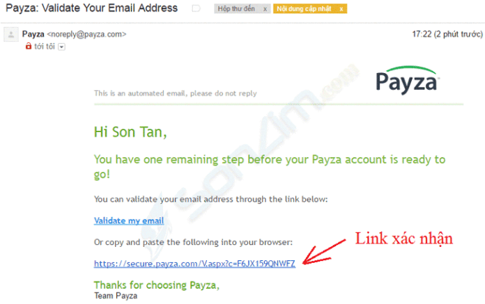 Cách tạo tài khoản Payza - 4