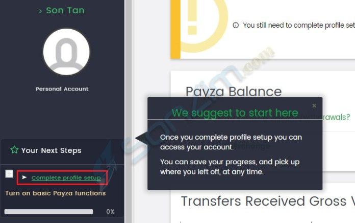 Cách đăng ký Payza - 5