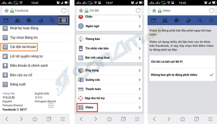 Cách tắt tự phát video trên Facebook - 3