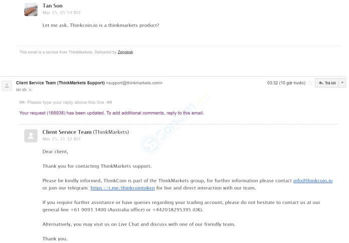 ThinkCoin là sản phẩm của ThankMarkets