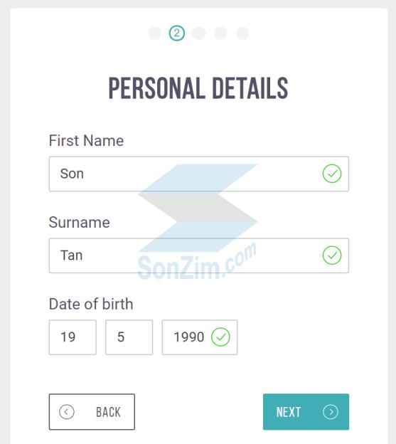 Cách đăng ký tài khoản Skrill - Bước 2