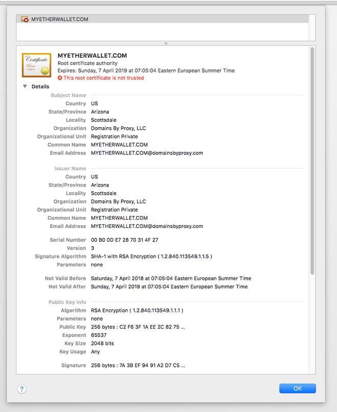 MyEtherWallet đang bị hacker tấn công DNS - 3