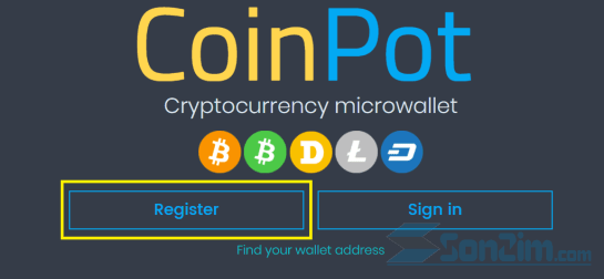 Cách tạo tài khoảnCoinPot - Bước 1