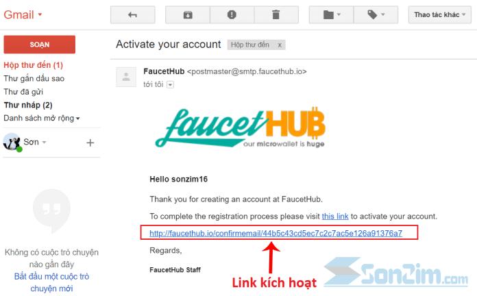 Cách đăng ký tài khoảnFaucetHub - Bước 3
