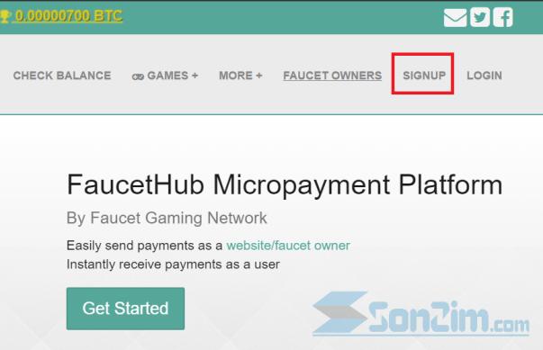 Cách đăng ký tài khoảnFaucetHub - Bước 1