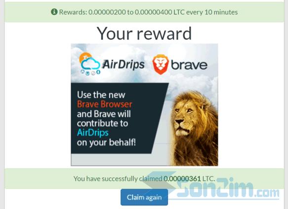 Các bước kiếm Litecoin miễn phí với GetFree Coin - Bước 2.3b