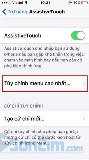 Tùy chỉnh nút Home ảo trên iPhone - Bước 5
