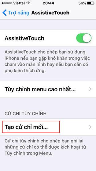 Cách tạo cử chỉ mới trên iPhone - Bước 5
