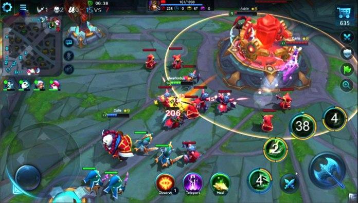 TOP 5 game MOBA cho smartphone đáng chơi nhất -Heros Evolved