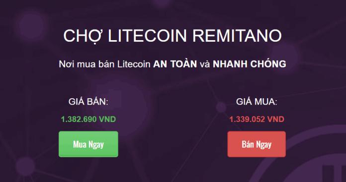 Remitano đã hỗ trợ Litecoin (LTC), bạn có thể mua bán Litecoin trên Remitano