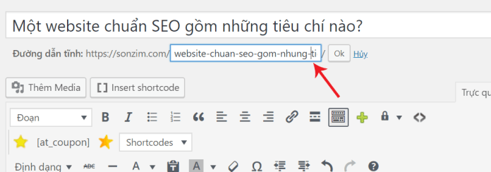 Một website chuẩn SEO gồm những tiêu chí nào? - Tối ưu hóa URL