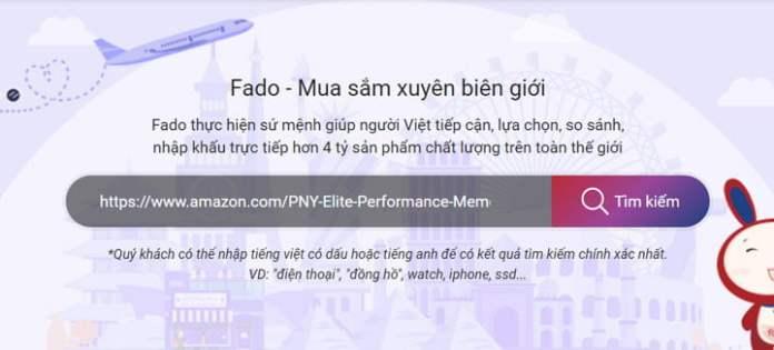Tìm sản phẩm Amazon tại Fado
