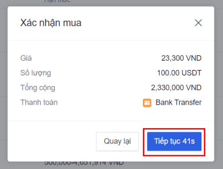 Cách mua USDT bằng VND trên OKEx - 3