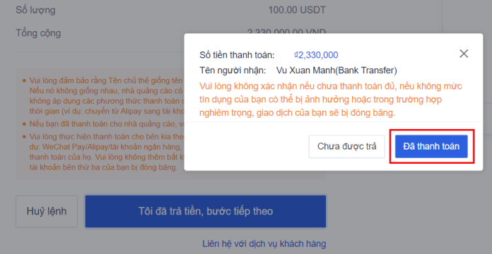 Cách mua USDT bằng VND trên OKEx - 5