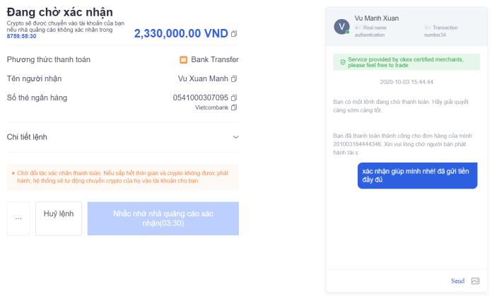Cách mua USDT bằng VND trên OKEx - 6