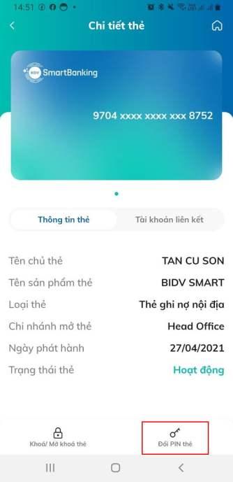 Mở thẻ BIDV online - Làm thẻ ATM online