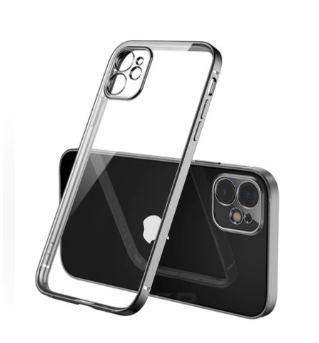 coque iphone 12 transparente noir