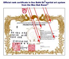 Moo Duk Kwan issued rank certification is recognized worldwide