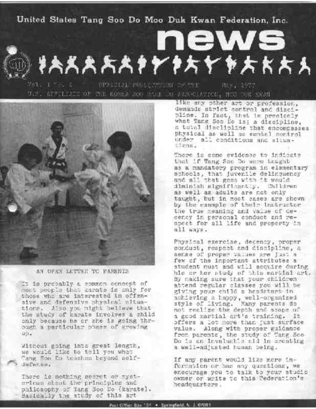 thumbnail of 1977 05 Usa Moo Duk Kwan Federation Newsletter
