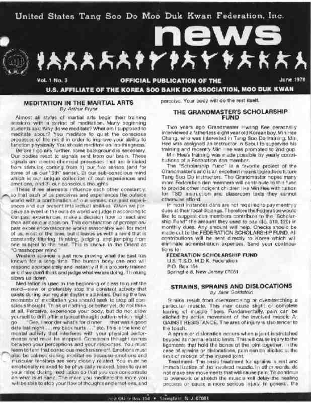 thumbnail of 1978 06 Usa Moo Duk Kwan Federation Newsletter