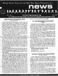 1978 06 Usa Moo Duk Kwan Federation Newsletter