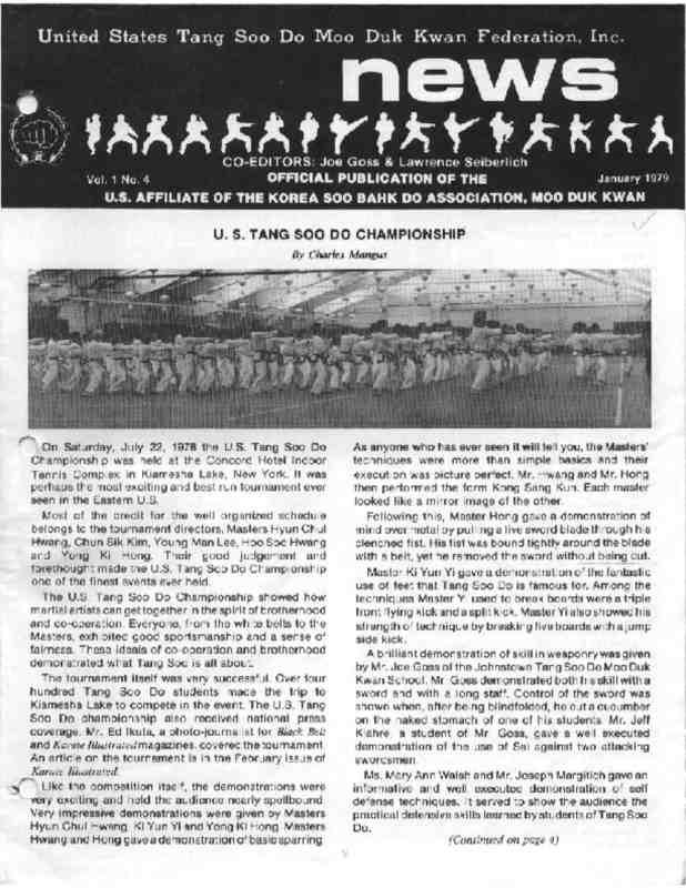 thumbnail of 1979 01 Usa Moo Duk Kwan Federation Newsletter