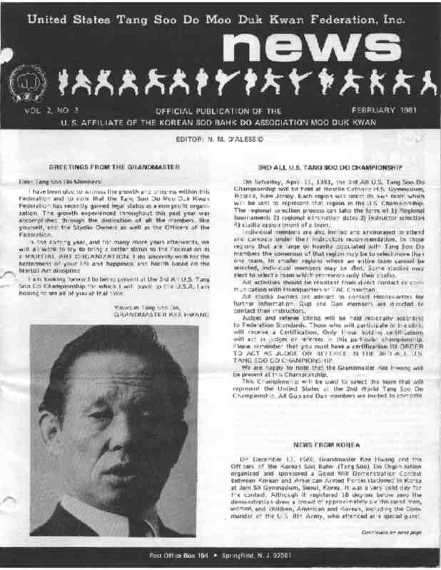 thumbnail of 1981 02 Usa Moo Duk Kwan Federation Newsletter