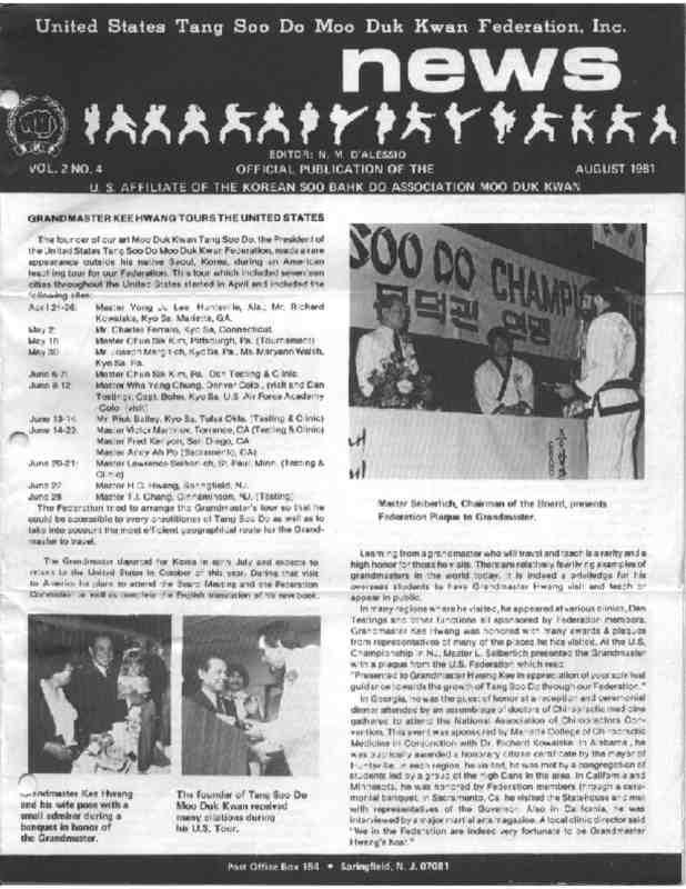 thumbnail of 1981 08 Usa Moo Duk Kwan Federation Newsletter