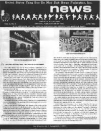 1982 06 Usa Moo Duk Kwan Federation Newsletter
