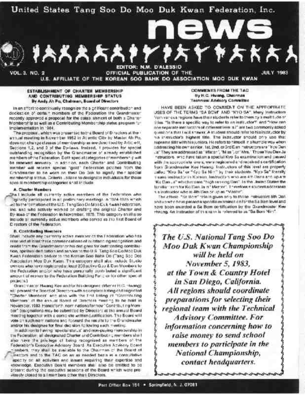 thumbnail of 1983 07 Usa Moo Duk Kwan Federation Newsletter
