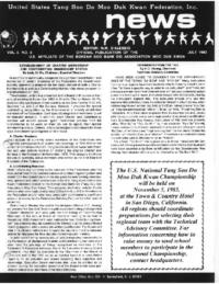 1983 07 Usa Moo Duk Kwan Federation Newsletter