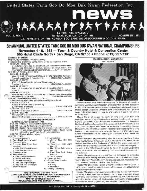 thumbnail of 1983 11 Usa Moo Duk Kwan Federation Newsletter