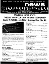 1984 10 Usa Moo Duk Kwan Federation Newsletter