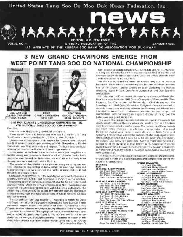 thumbnail of 1985 01 Usa Moo Duk Kwan Federation Newsletter