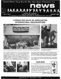 1988 08 Usa Moo Duk Kwan Federation Newsletter