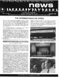 1989 08 Usa Moo Duk Kwan Federation Newsletter