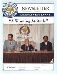 1991 11 Usa Moo Duk Kwan Federation Newsletter