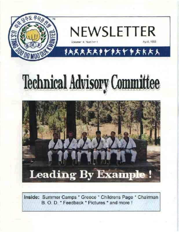 thumbnail of 1993 04 Usa Moo Duk Kwan Federation Newsletter