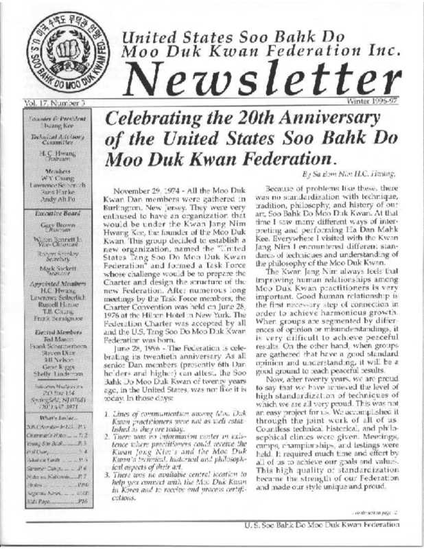 thumbnail of 1996 12 Usa Moo Duk Kwan Federation Newsletter