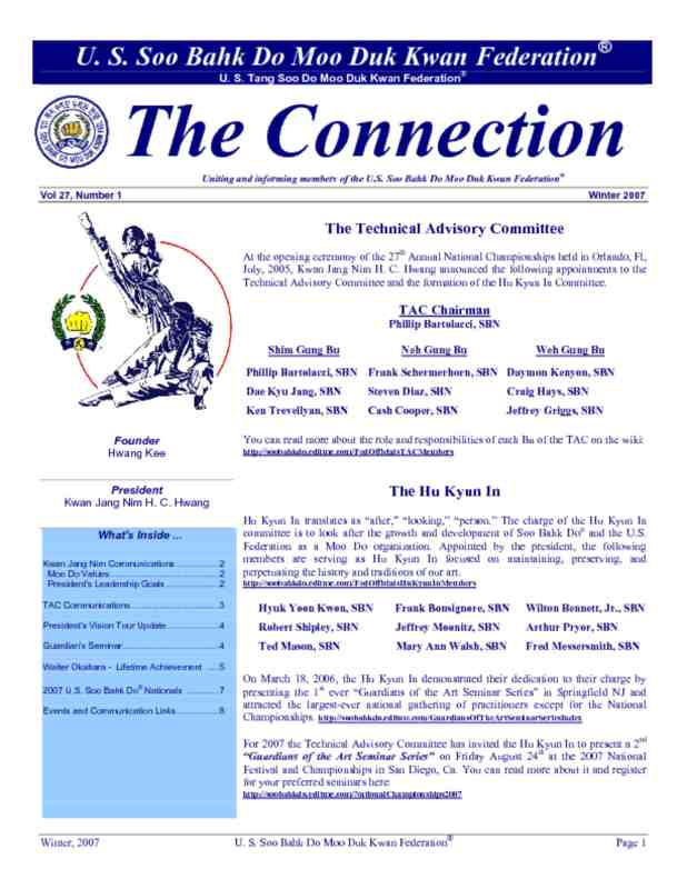 thumbnail of 2007 04 01 Usa Moo Duk Kwan Federation Newsletter
