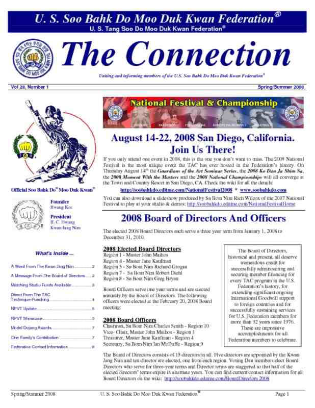thumbnail of 2008 05 29 Usa Moo Duk Kwan Federation Newsletter