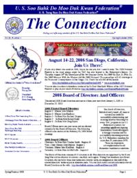 2008 05 29 Usa Moo Duk Kwan Federation Newsletter